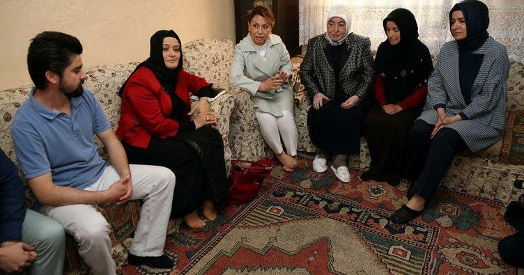 Semiha Yıldırım ihtiyaç sahibi aileleri ziyaret etti