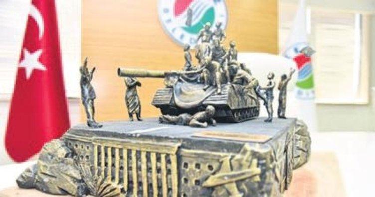 Kepez'de anıt açılışı
