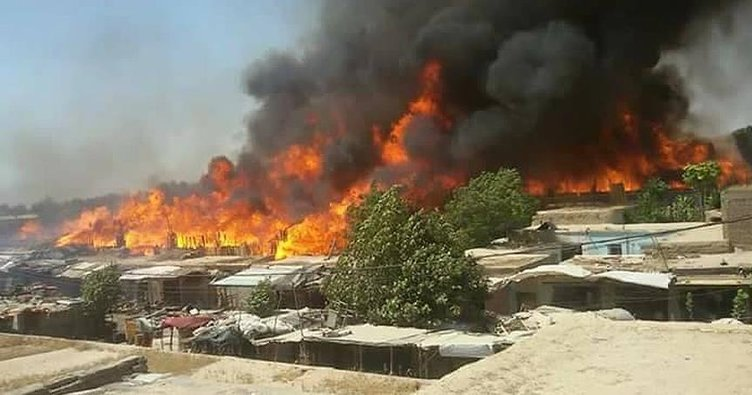 Afganistan'da yangın: 475 mağaza kül oldu!