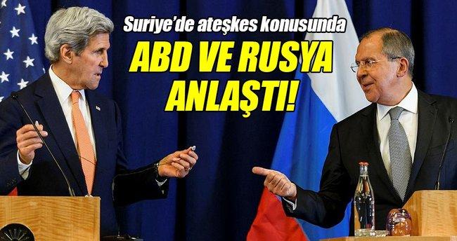 ABD ile Rusya anlaştı!