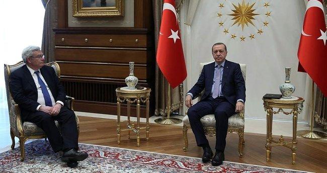 Erdoğan, BNP Paribas Yönetim Kurulu Başkanı Lemierre'i kabul etti