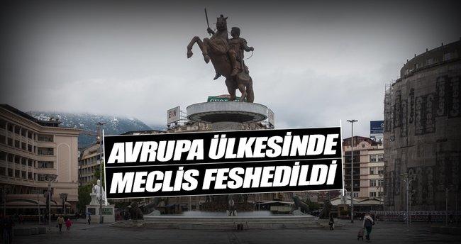 Makedonya meclisi fesh edildi