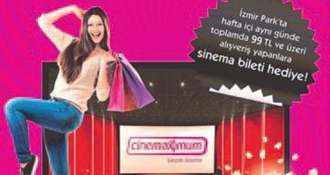 İzmir Park'ta ücretsiz sinema bileti fırsatı