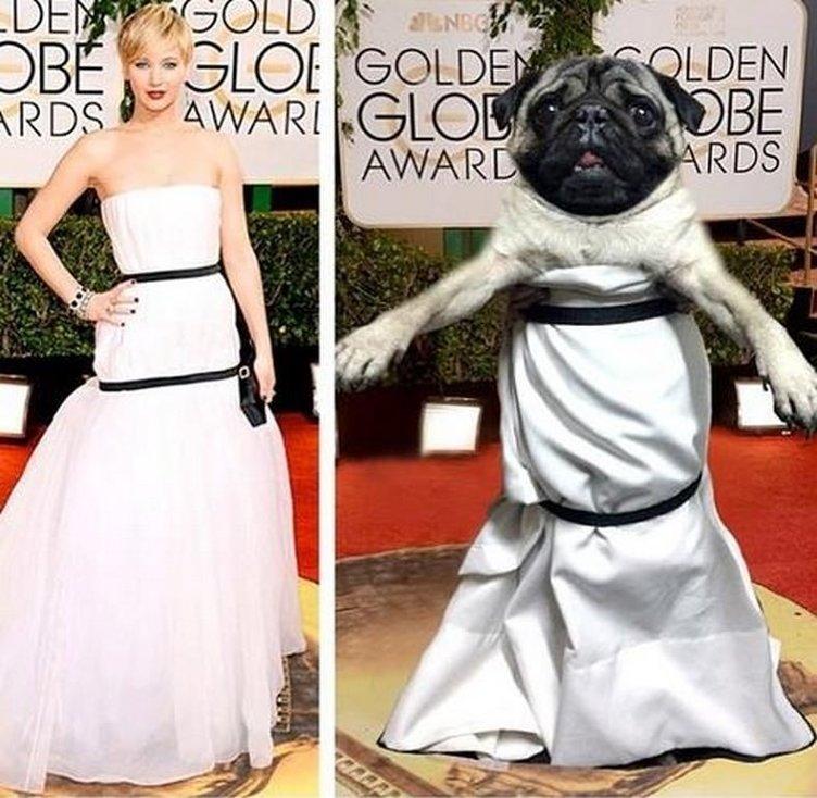 Jennifer Lawrence'nin kıyafeti alay konusu oldu