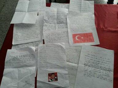 Miniklerden Ömer Halisdemir'in ailesine duygu ve cesaret dolu mektuplar...