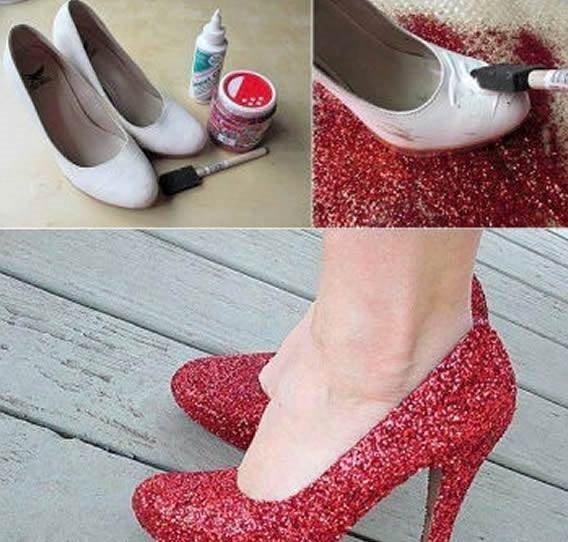 Eski ayakkabılardan bakın ne yaptılar