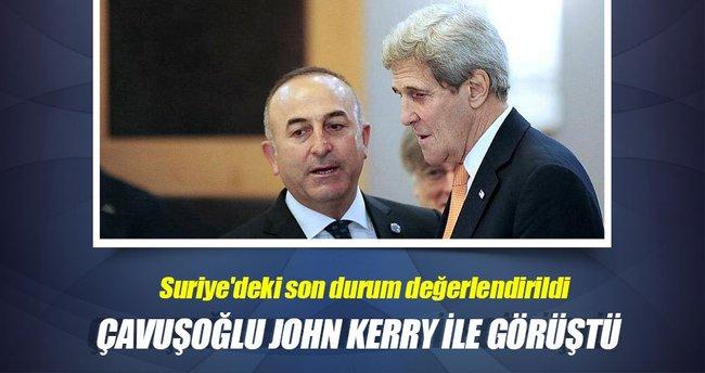 Dışişleri Bakanı Çavuşoğlu ve John Kerry telefonda görüştü