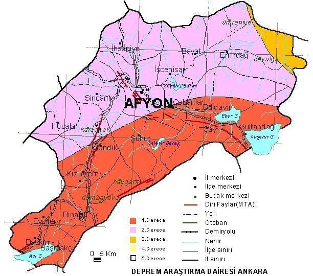 Türkiye'nin deprem haritası
