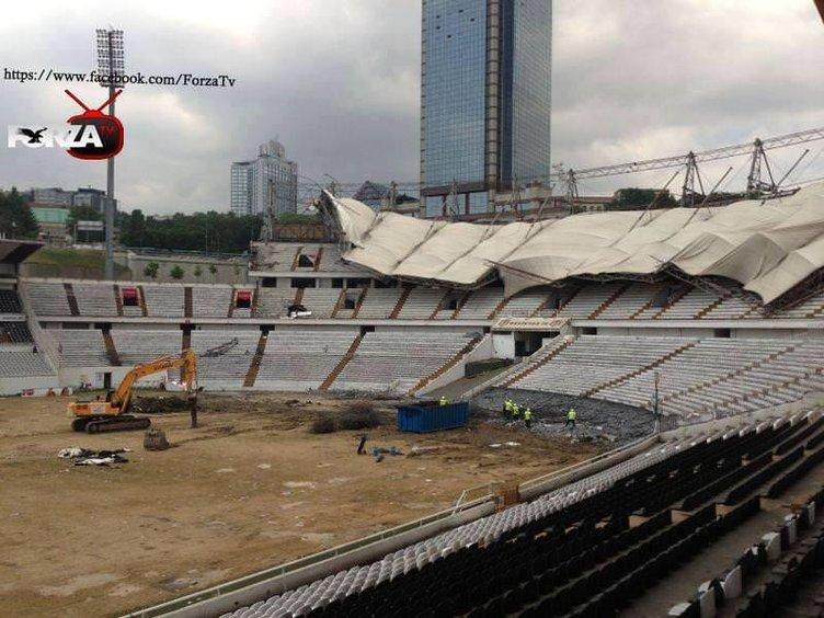 İnönü Stadı yıkılıyor