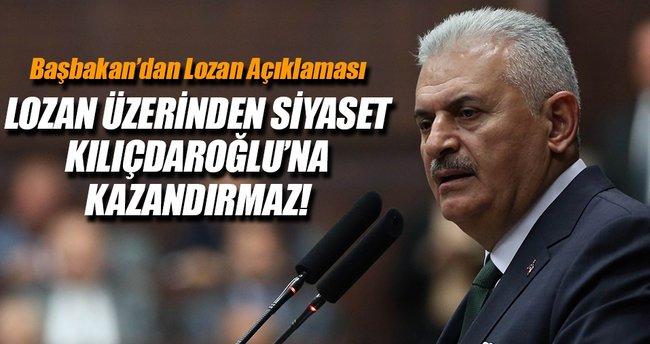 Başbakan'dan Lozan açıklaması