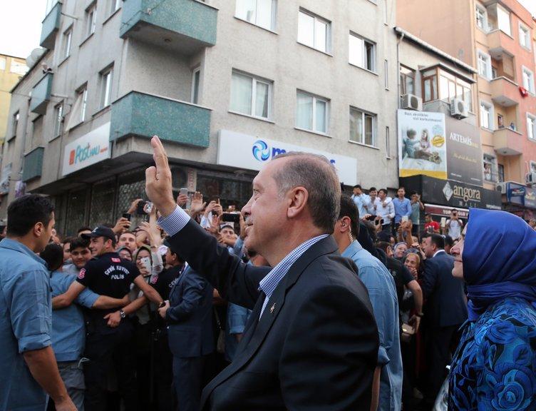 Cumhurbaşkanı Erdoğan şehit ailelerini ziyaret etti