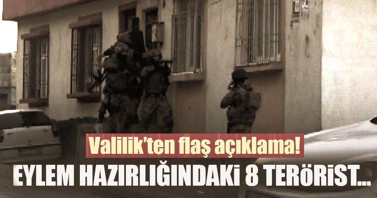 Son dakika: Gaziantep'de eylem hazırlığındaki 8 terörist yakalandı