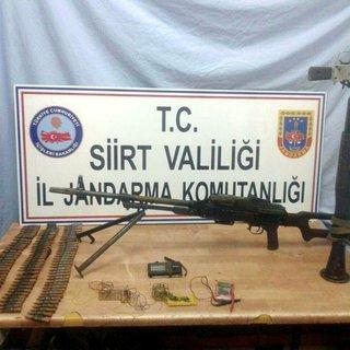 Siirt'te PKK cephaneliği ele geçirildi