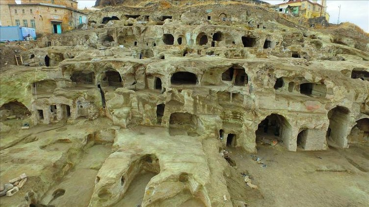 Kapadokya'da bulunan yeraltı kenti