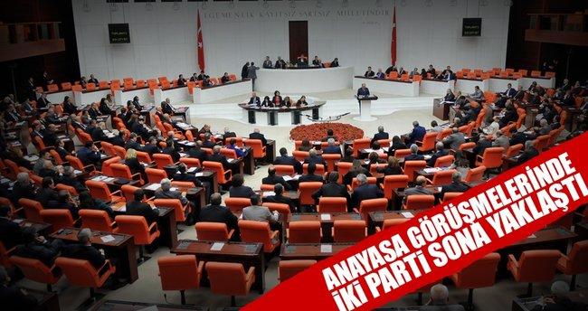 Anayasa görüşmelerinde iki parti sona yaklaştı