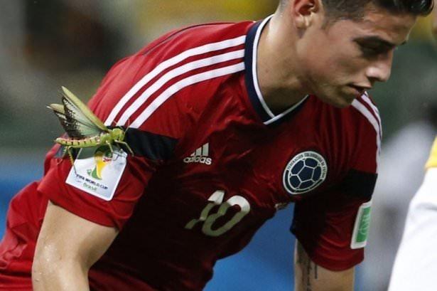 James Rodriguez, heyecandan kolundaki çekirgeyi fark etmedi
