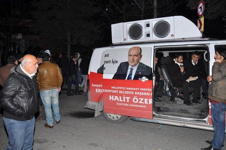 MHP'liler yol kapattı