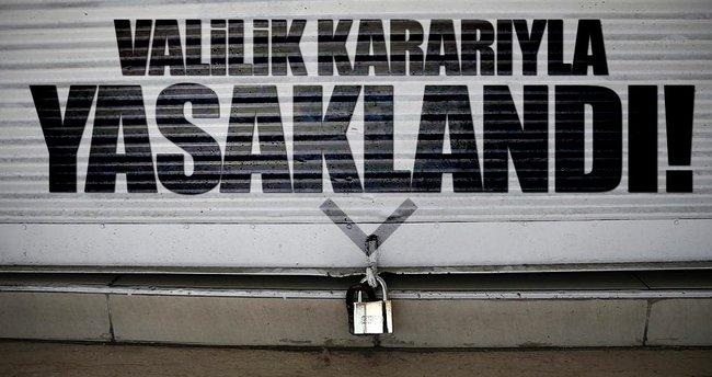 Hakkari'de kepenk kapatma eylemi yasaklandı