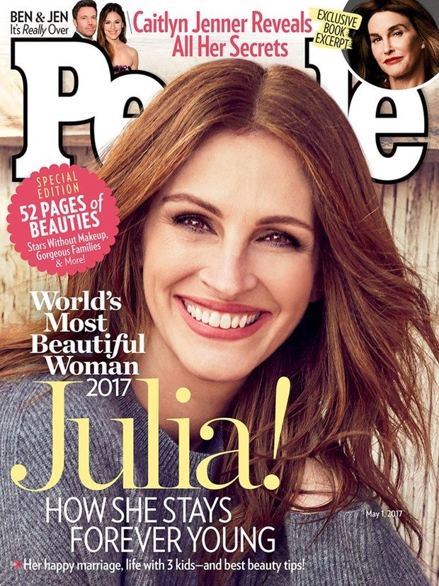 Yılın en güzel kadını Julia Roberts