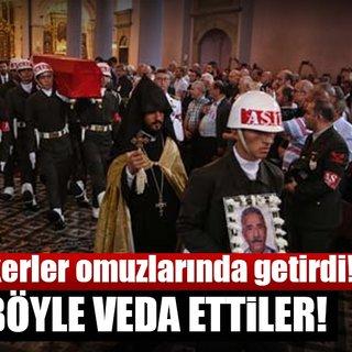 Ermeni Kıbrıs gazisi için kilisede tören