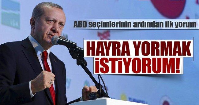 Cumhurbaşkanı Erdoğan: ABD'nin bu tercihini hayra yormak istiyorum