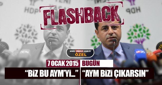 Demirtaş 'Faşist' dediği AYM'ye bel bağladı!