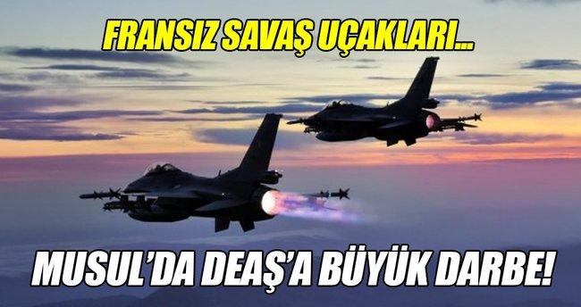 Savaş uçakları DEAŞ'ın patlayıcı deposunu vurdu!