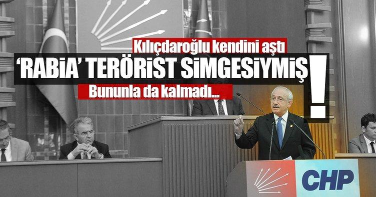 CHP'li Kılıçdaroğlu Rabia simgesine terörist simge dedi!