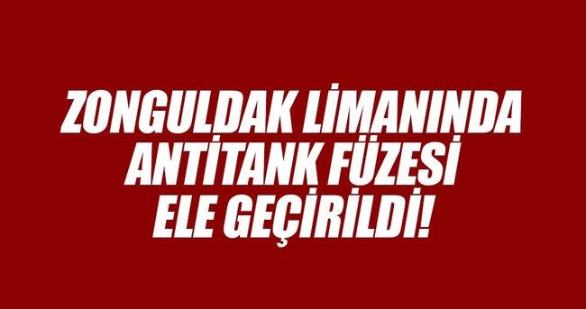 Zonguldak Limanında antitank füzesi yakalandı!