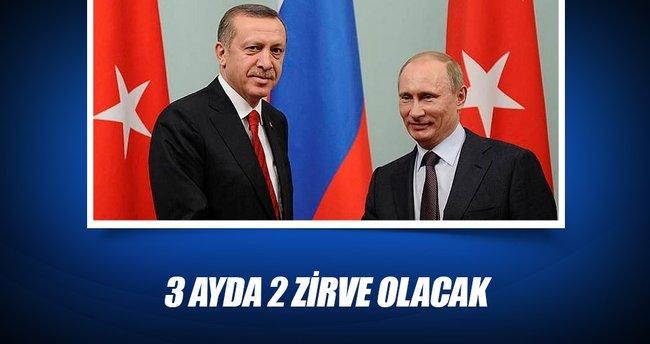 Erdoğan, Putin'le 3 ayda 2 zirve yapacak