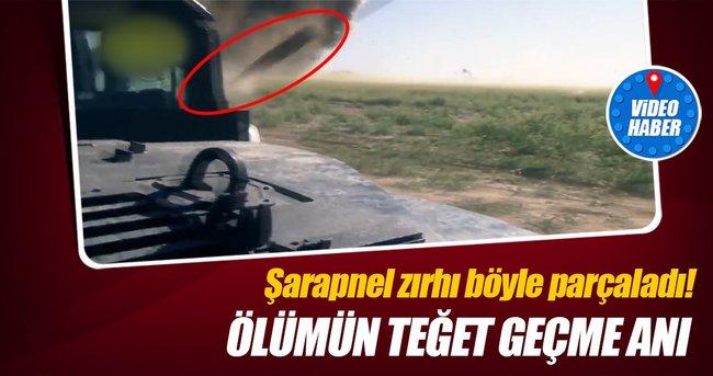 Bombalı araçtan fırlayan şarapnelden santimlerle kurtuldu! Ölümden kurtulma anı kamerada...