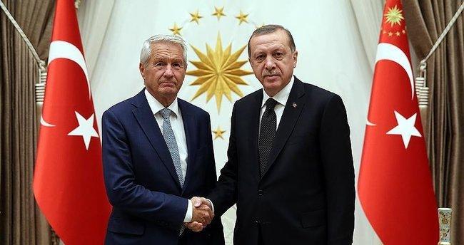Erdoğan, Avrupa Konseyi Genel Sekreteri Jagland'ı kabul etti