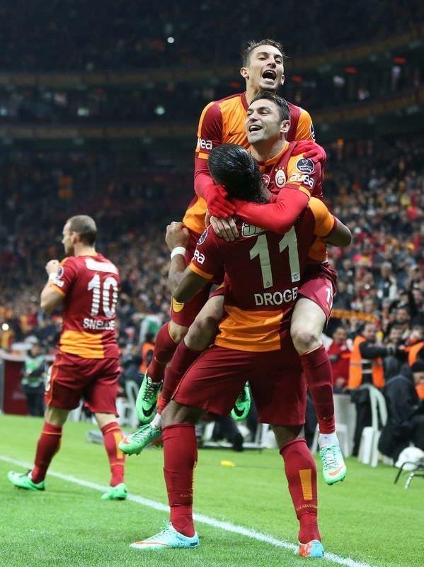 Galatasaray- Akhisar Belediyespor maçından kareler