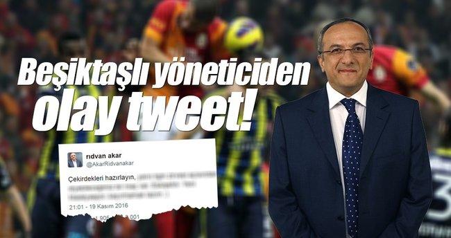 Beşiktaşlı yöneticiden Fenerbahçe ve Galatasaraylıları kızdıracak tweet