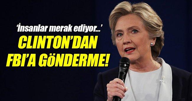 Clinton'dan FBI'a sert gönderme!