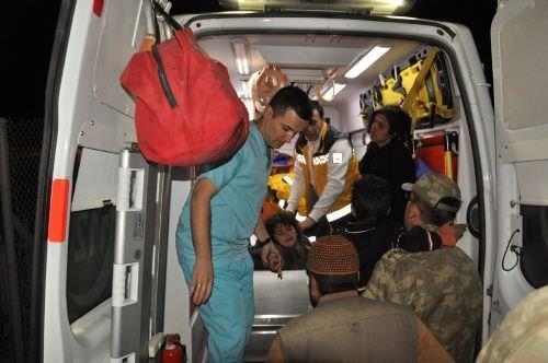 Donmak üzere olan Suriyeliler kurtarıldı