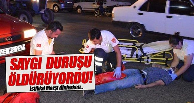 Saygı duruşu öldürüyordu! İstiklal Marşı dinlerken...