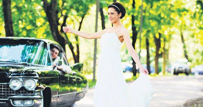 Kış düğünleri de renkli olur