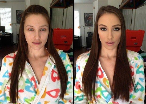 Porno yıldızlarının makyajsız halleri