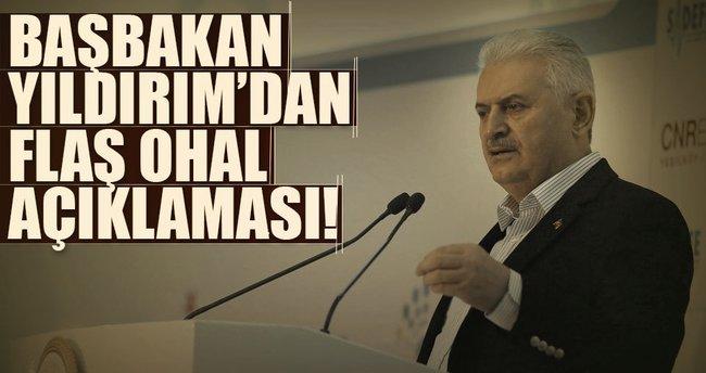 Başbakan Yıldırım'dan flaş OHAL açıklaması