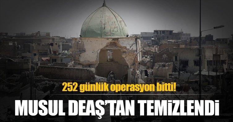 252 günlük operasyon bitti! Musul, DEAŞ'tan temizlendi!