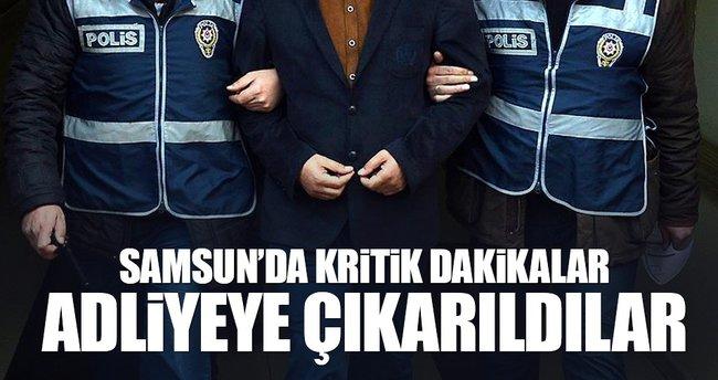 Samsun'da o isimler adliyeye çıkarıldı