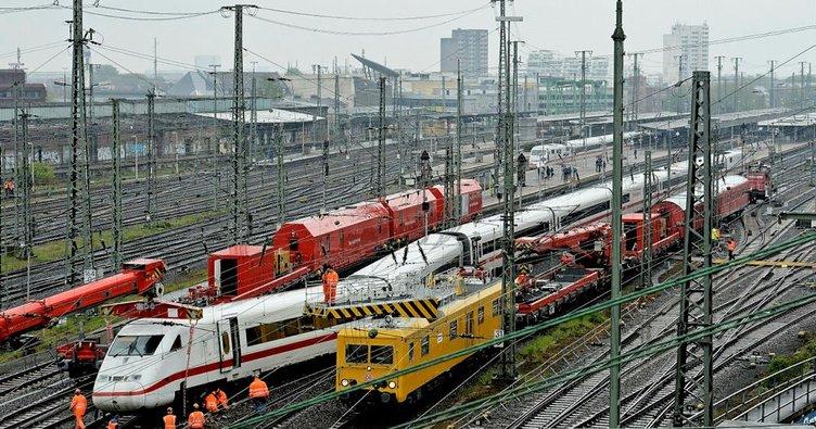 Dortmund'ta hızlı tren raydan çıktı: 2 yaralı