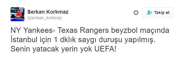 UEFA'ya sosyal medyadan büyük tepki!