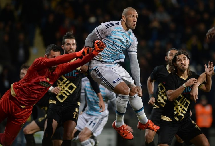 Osmanlıspor-Fenerbahçe maçından kareler