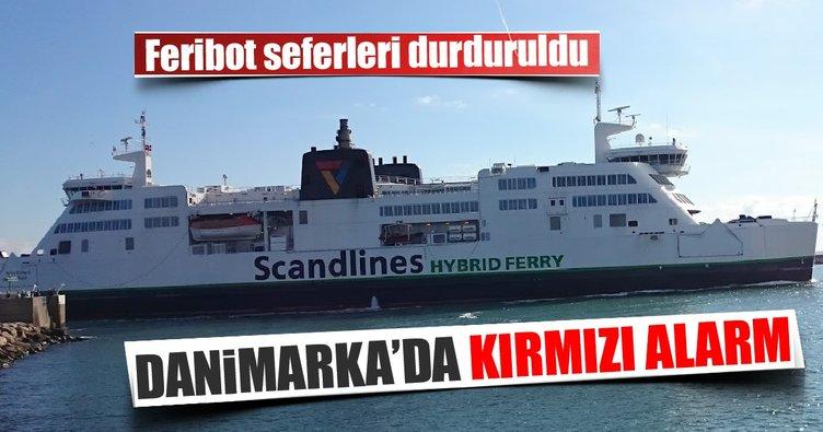 Danimarka'da terör alarmı! Feribot seferleri durduruldu...