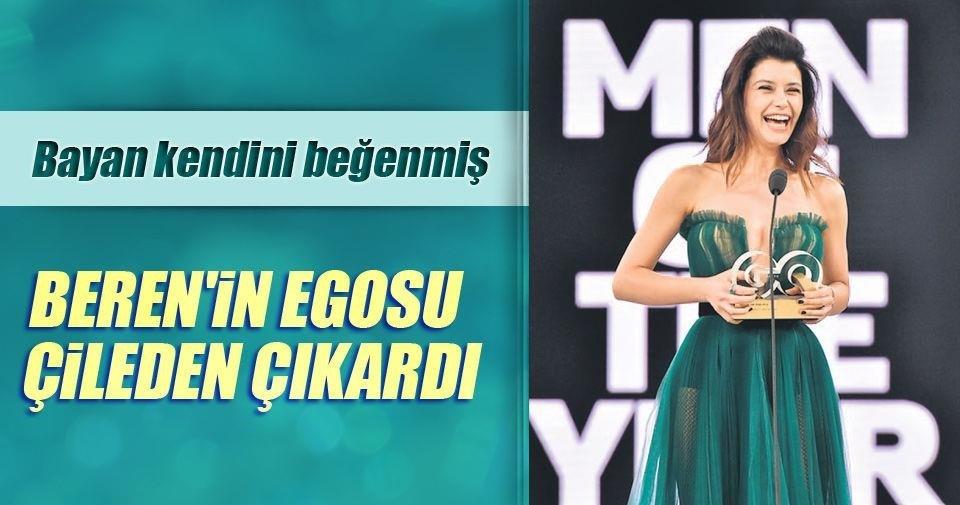 Yılın egosu ödülü Beren'e!