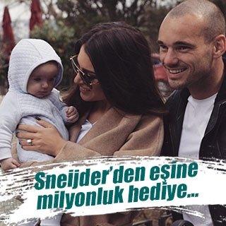Sneijder'den Yolanthe yengeye milyonluk hediye