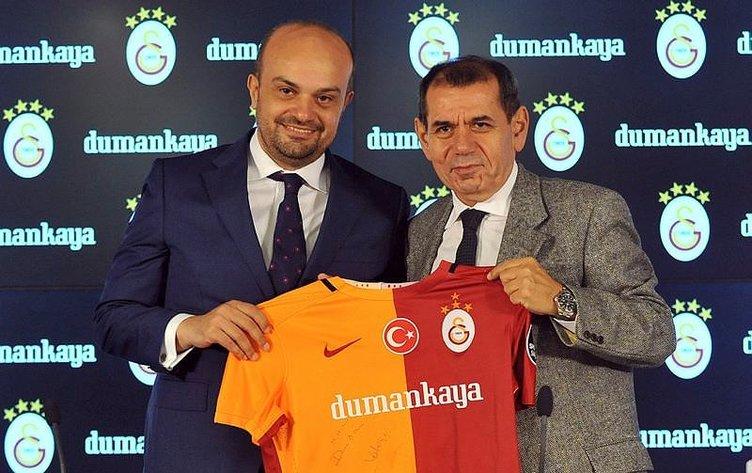 Galatasaray'ın yeni forma sponsoru Dumankaya