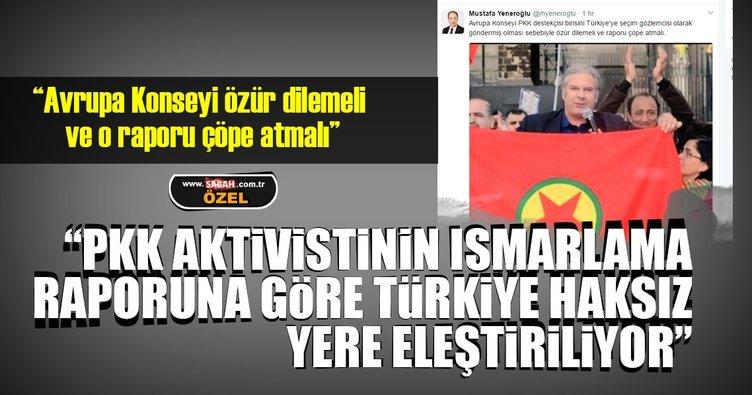 Avrupa Konseyi PKK aktivistinin hazırladığı raporu çöpe atmalı